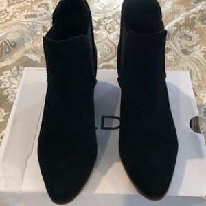 Black Suede Ankle Bootie